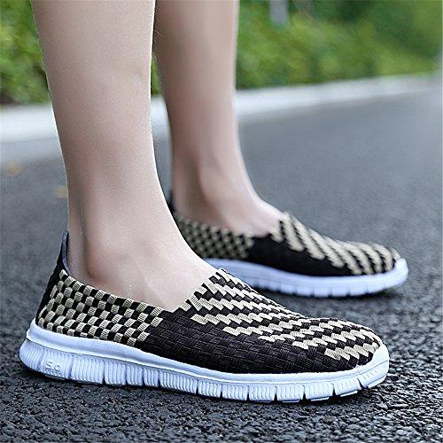 Las de Deporte de Transpirables Mujeres Ligeras Las Zapatillas de Zapatillas Deporte Casuales Brown3 de TwB81wx