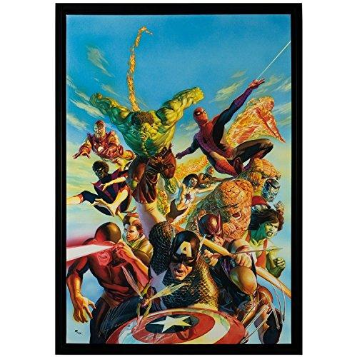 Marvel Secret Wars Signed by Alex Ross Framed Fine Art Canvas