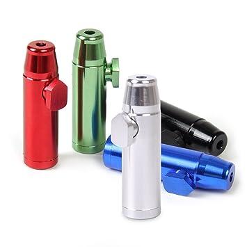 Superior calidad de aluminio dispensador de rapé Snorter Rocket: Amazon.es: Hogar