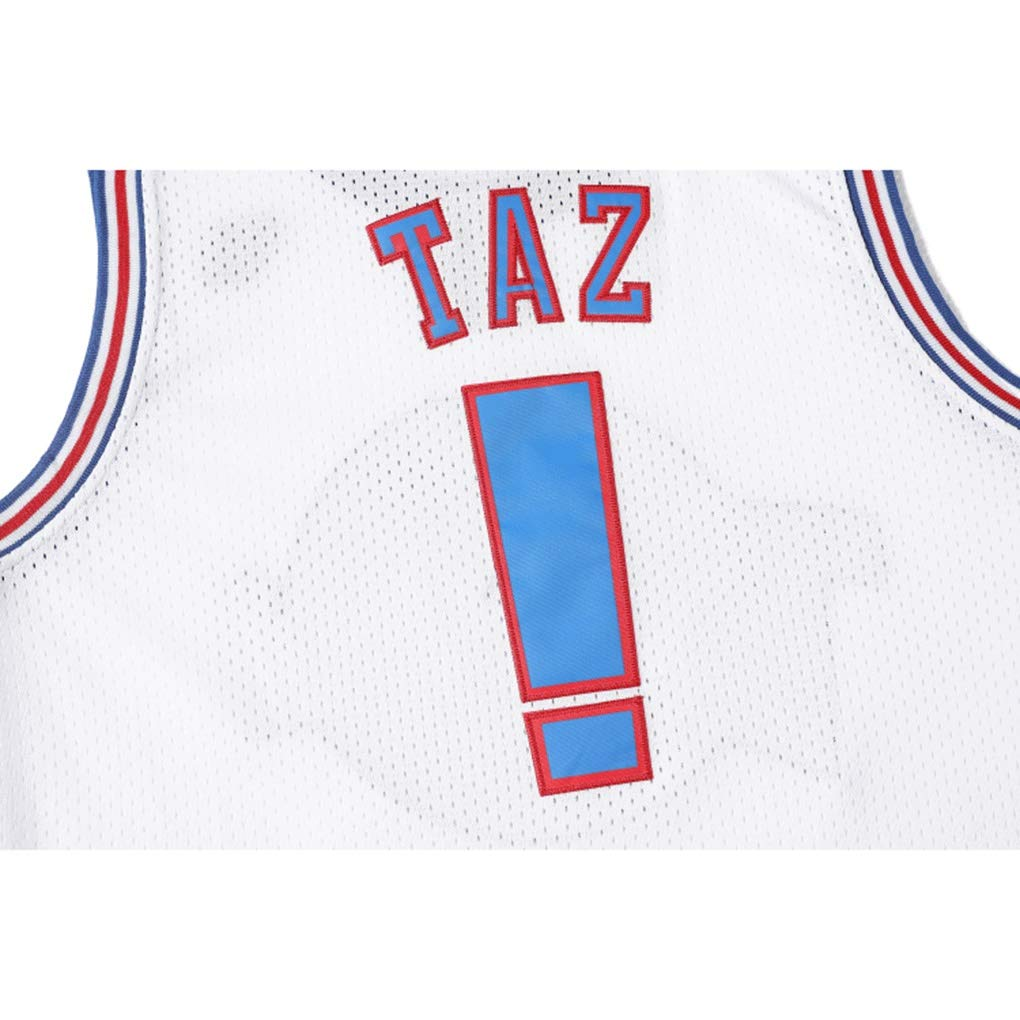 Uniforme di Basket NCAA Swingman Jersey Taz # ! Senza Maniche T-Shirt Unisex WSF maglia Pullover di Pallacanestro Nuovo Tessuto Tune Squad Uomo