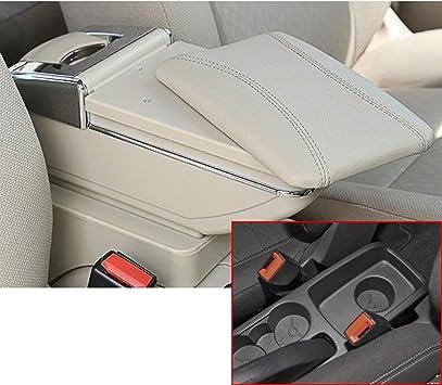 Per 2009-2017 F ord Fiesta 3 MK7 Lusso Auto Bracciolo Accessori LED Incorporato Il corrimano pu/ò essere sollevato beige