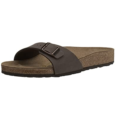 BIRKENSTOCK Madrid, Damen Pantoletten, Schwarz (Graceful Licorice), 36 EU