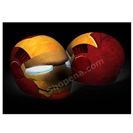 Iron Man Motorcycle Helmet Cover AND Visor Sticker Decal Iron Head