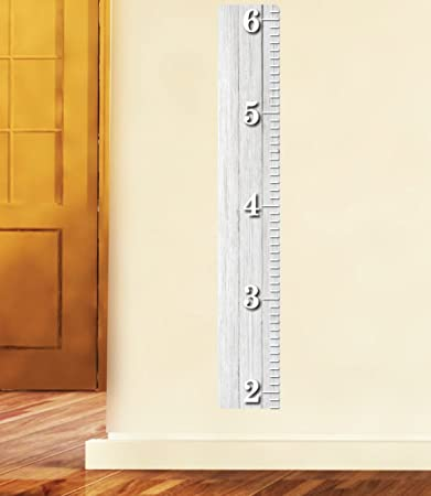Amazon White Wooden Ruler Growth Chart Wood Ruler Height