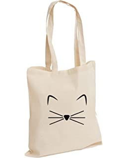 ab6c2592f Crazy Cat Lady Feline Kitty Meow Wiskers Slogan Animal Kitten Lover Cotton Tote  Bag