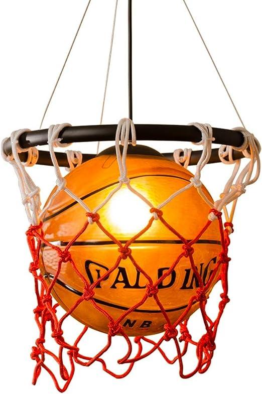 Créatif Basketball Lampe pendante Loft Rétro Lustre Fer
