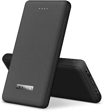 WAYSTA - Batería externa de 10000 mAh más pequeña y ligera, ultra ...