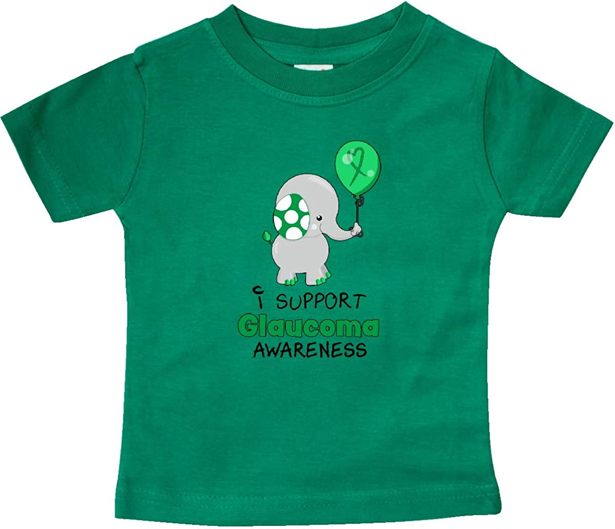 inktastic I Support Glaucoma Awareness Elephant and Balloon Baby T-Shirt