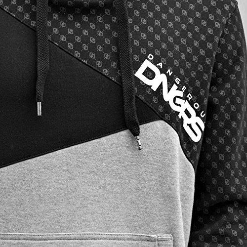 Dangerous DNGRS Symbols Hoodie Herren Pullover Kapuze Kängurutaschen Männer Sweatshirt Grau Schwarz DefShop S M L XL XXL 3XL 4XL Schwarz cuPjig676T