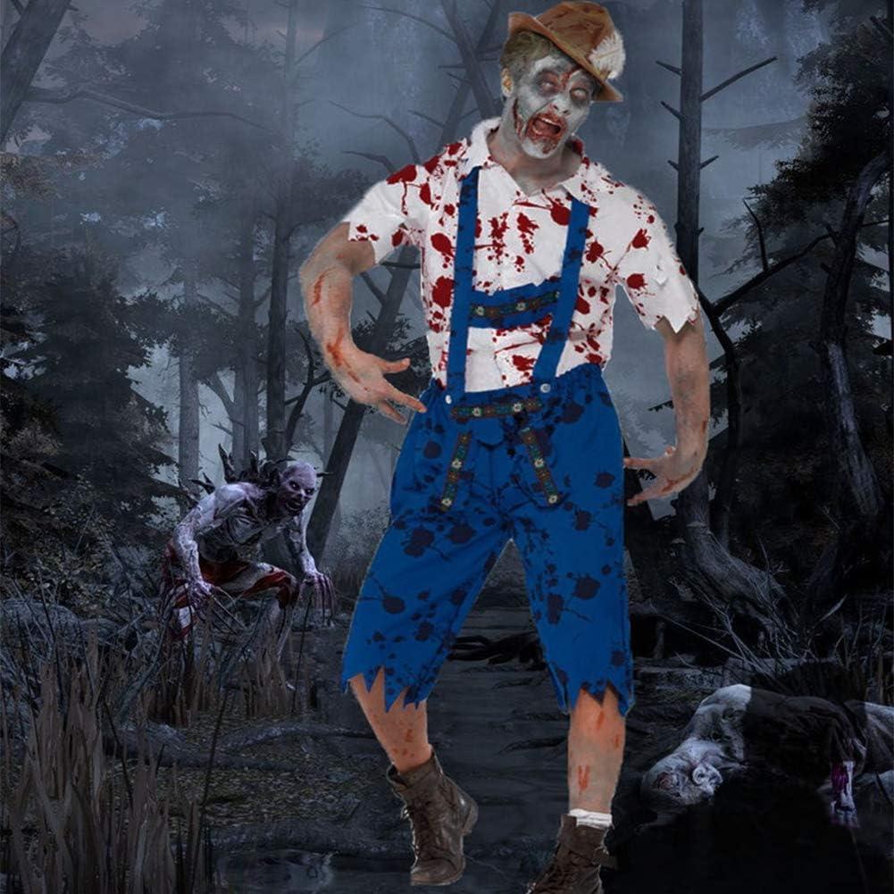 Disfraz De Halloween Hombre Granjero Zombi Adulto Juego De rol ...