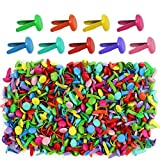 Yexpress 400 Pieces 8 x 12mm Assorted Bright Color Mini Brads Round Paper Fasteners Brass Pastel Metal Brads for Scrapbooking Crafts DIY Paper (8 x 12mm)