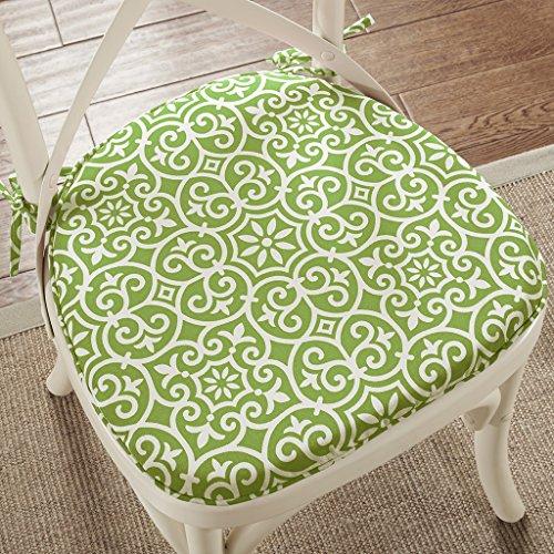 Aptos Fret 3M Scotchgard Indoor/Outdoor Chair Pad Pair Green 16x17x1