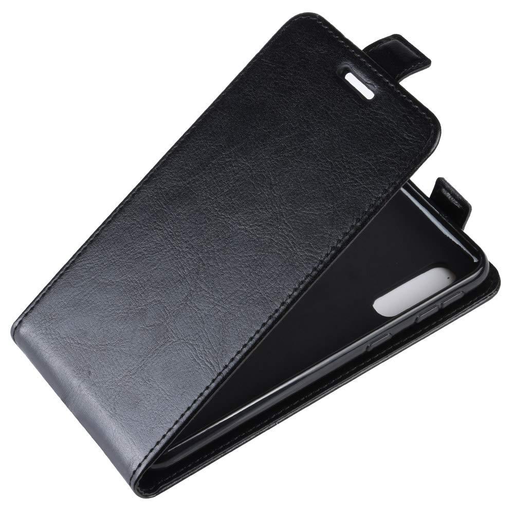 Folio Housse avec Emplacements de Cartes Leather Case,Brown Leather Housse /Étui en Cuir /à Rabat Portefeuille Wallet Case FindaGift Samsung Galaxy A20e Flip Coque magn/étique Antichoc