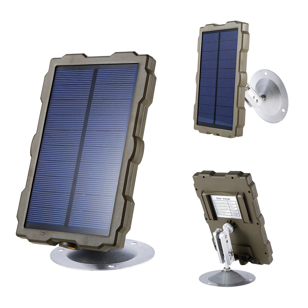 Lixada Hunting Camera Battery Solar Panel Charger External Power for Trail Camera H801 H885 H9 H3 H501 Mini by Lixada