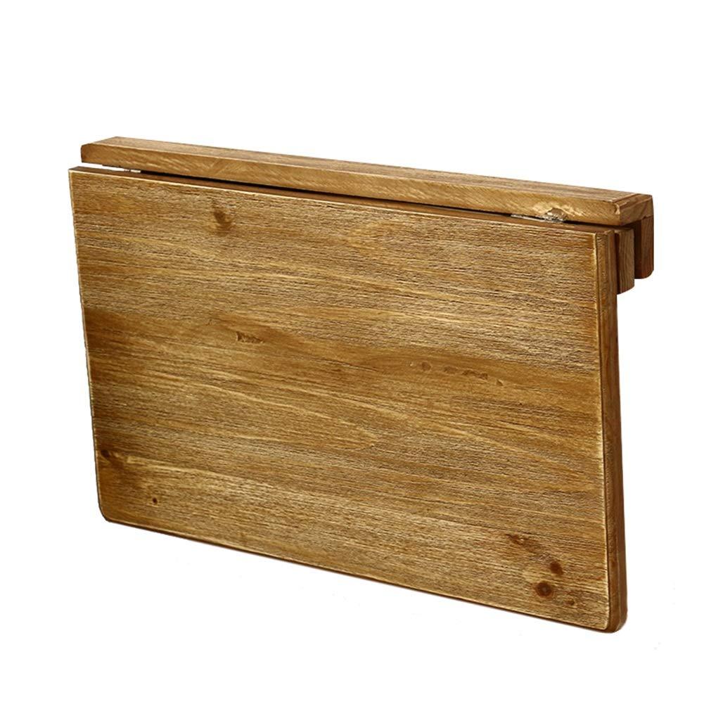 45c6910796c3 PENGFEI ノートパソコンスタンド ベッドテーブル折りたたみ可能 壁掛けテーブル ポータブル キッチン 小さなスペース、 無垢材、 2サイズ (色    木の色