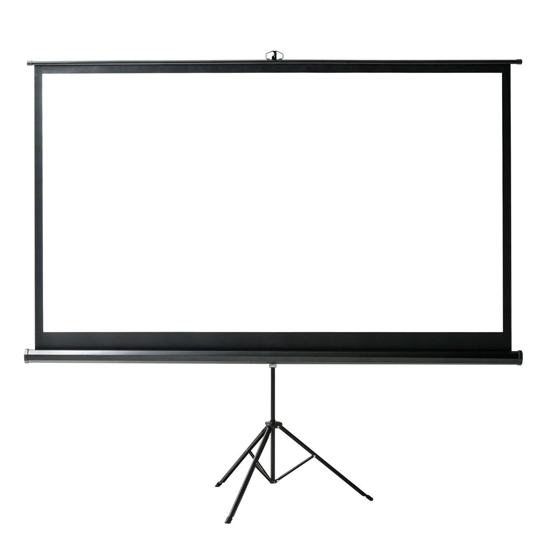 イーサプライ プロジェクタースクリーン 100インチ ワイド 16:9 HD 高画質 ハイビジョン 対応 自立式 三脚 スタンド EEX-PSS2-100HDK B07D46X3VV