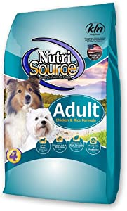 NUTRISOURCE ADULT Chicken & Rice Formula Dog Food - 5 LB. BAG