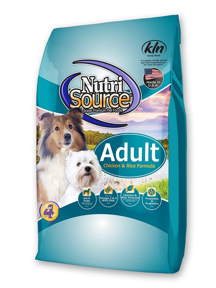 NutriSource Adult Chicken and Rice Dry Dog Food 15 lb