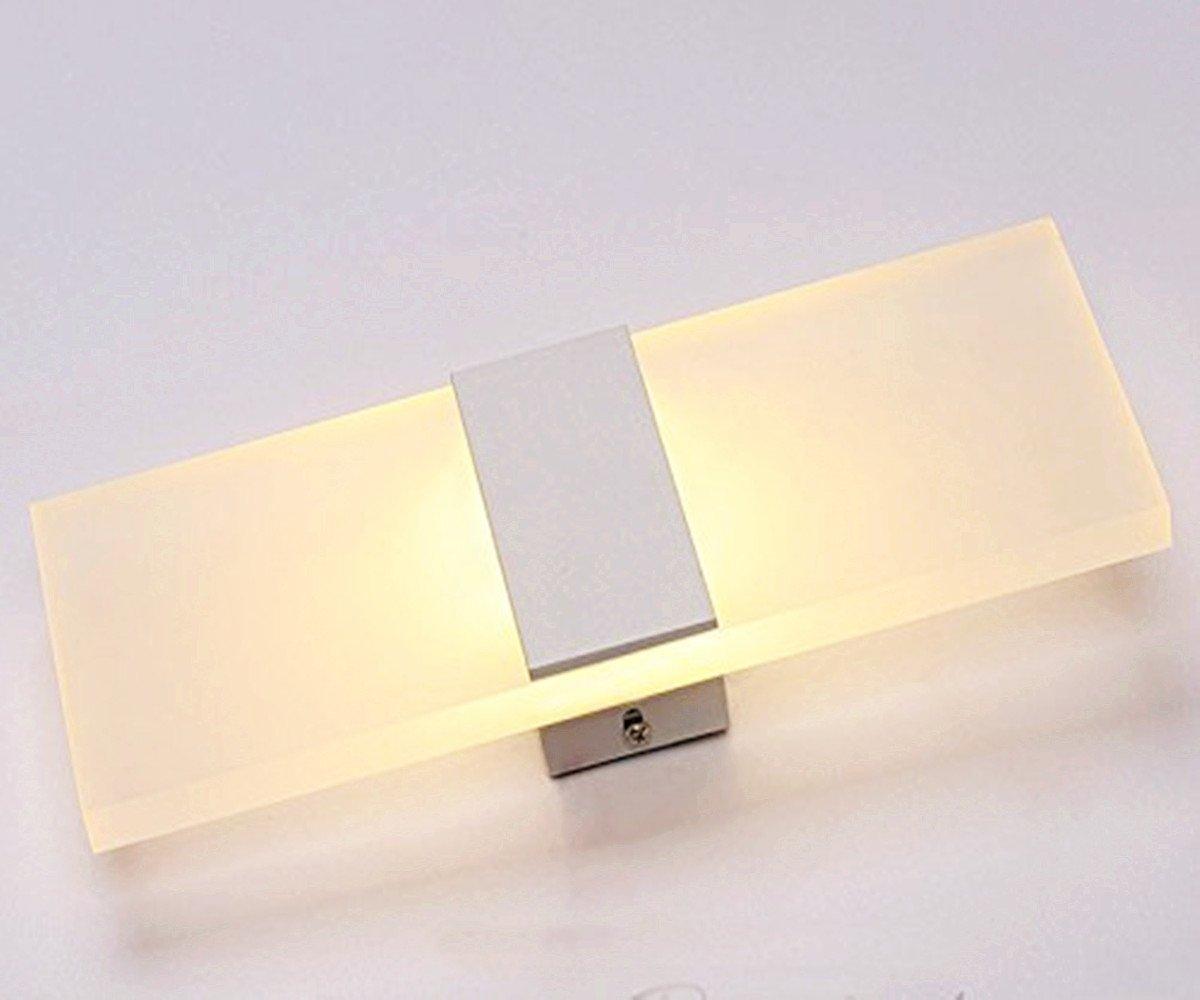 Unimall Modern Wandleuchte LED innen Wandlampe 6W ideal f/ür Schlafzimmer Wohnzimmer Treppenhaus Flur energiesparend Warmwei/ß