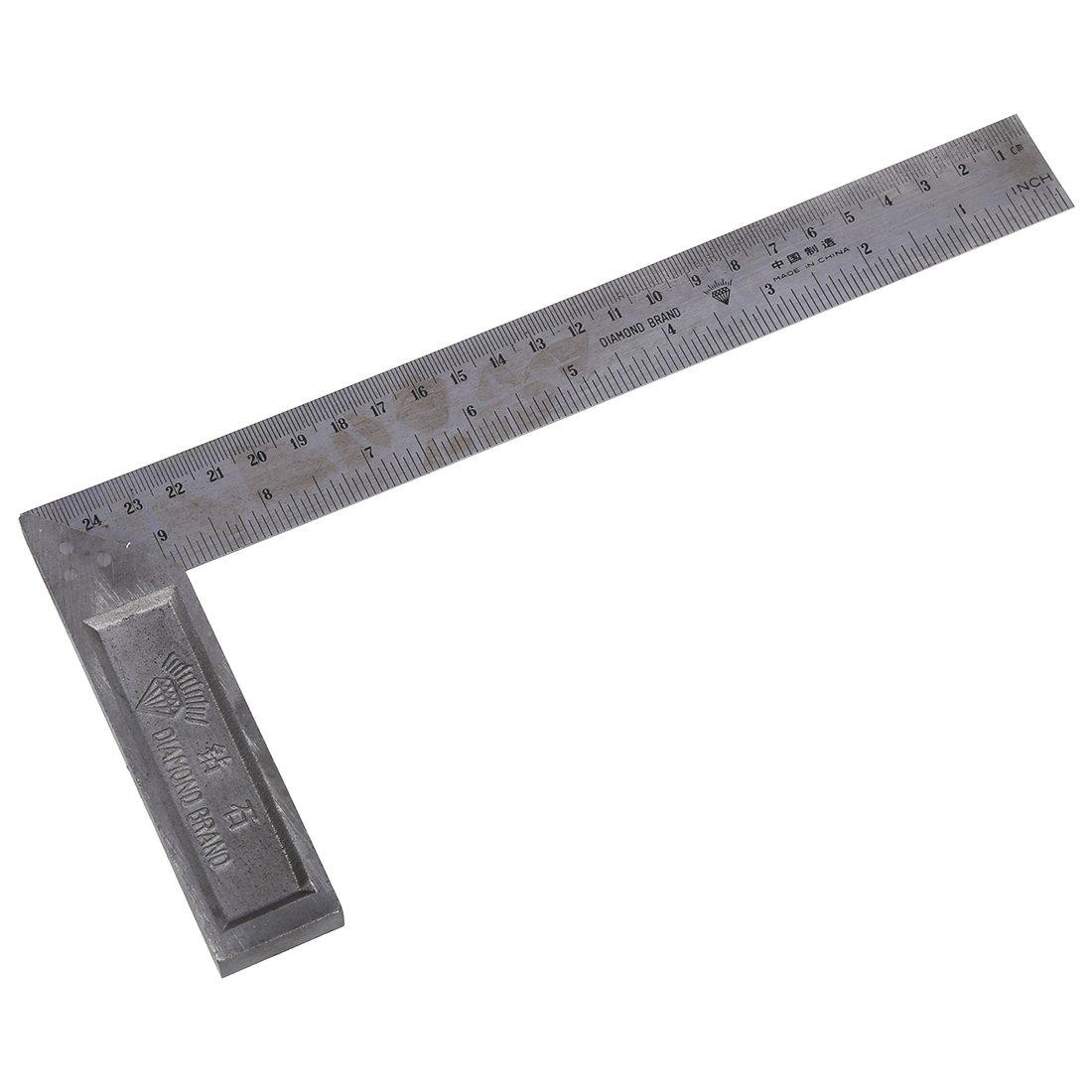 R L-rechter Winkel Lineal 90 Grad 25cm Laenge Edelstahl L-rechter Winkel Lineal SODIAL