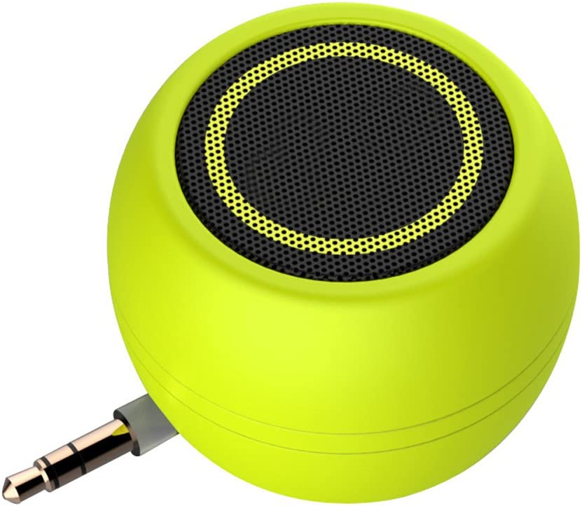 Rumfo Mini Phone Speaker Portable Wireless Plug in Speaker with 3.5mm Aux Audio Jack Rechargeable Plug and Play Clear Bass Speaker Universal for Cell Phone iPad MP3 MP4 Tablet Computer (Green)