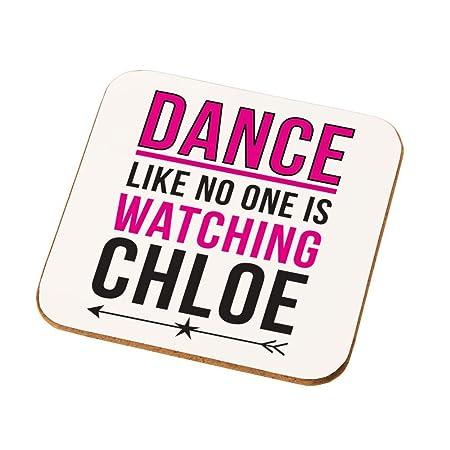 Personalised Dance Like No One Is Watching Drinks Coaster Teenage