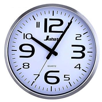 Reloj de pared de acero inoxidable de 14 pulgadas de Aidelai, reloj de pared moderno para salón dormitorio reloj de pared silencioso de cuarzo: Amazon.es: ...