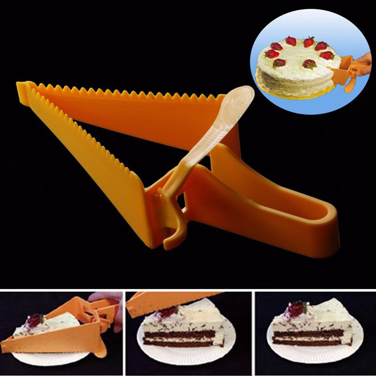 Nrpfell Triangle-Design Adjustable Cake Cutter Baking Tool Cake Slicer Baking Cutter Tool by Nrpfell (Image #3)