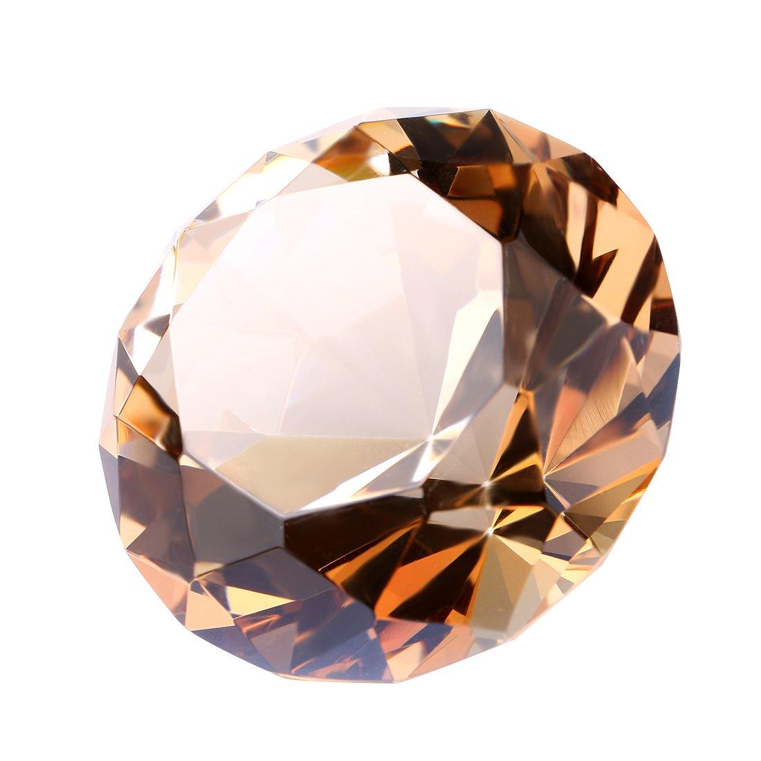 decorazione per la casa a forma di diamante in taglio brillante Fermacarte in cristallo ottico K9 H/&D diametro 30 mm Violet