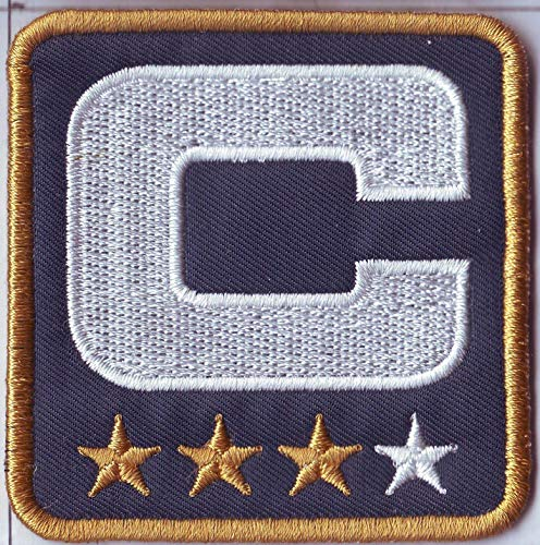 Stitched Blue Jersey - Stitched Navy Blue Captain Pathc for Football Jersey 3 Three Gold Star (Navy 3 Gold Star)