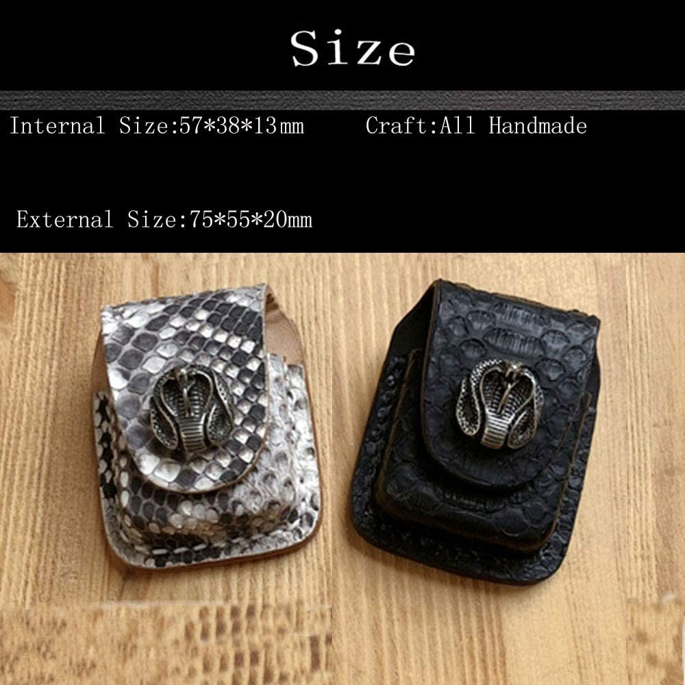 Genuine Leather Heavy Duty Pouches Lighter Holder Case Hand Made Pouch-Snake King