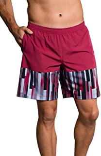 product image for Onzie Hot Yoga Mens Board Shorts 503 Crimson/Linear Geometric