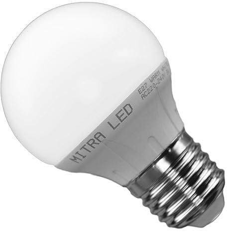 5 Watt Led A Quanto Corrisponde.Lampadina E27 Led 5 Watt Equivalente A 45 Watt G 50 Bianco