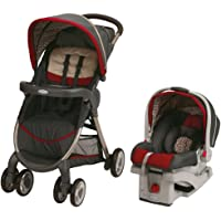 Graco Fastaction Fold Click Connect Travel System Stroller, Finley, One Size