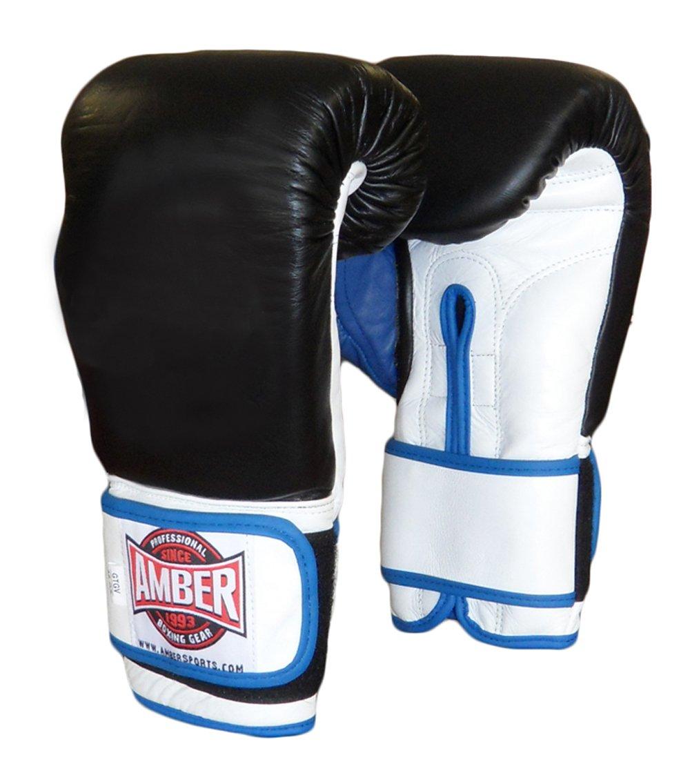 Amber ファイトギア ジェル トレーニンググローブ フック&ループ 16オンス B0733FBRT2