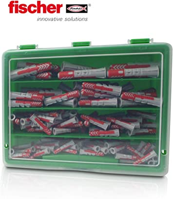 Bit im Koffer 160-tlg Fischer Dübel DUOPOWER Sortiment 6 und 8mm mit Schrauben