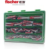 FISCHER Fixtainer D/übel /Ø 6 mm und 8 mm Duopower//Duotec Sortiment 200 St/ück im Koffer
