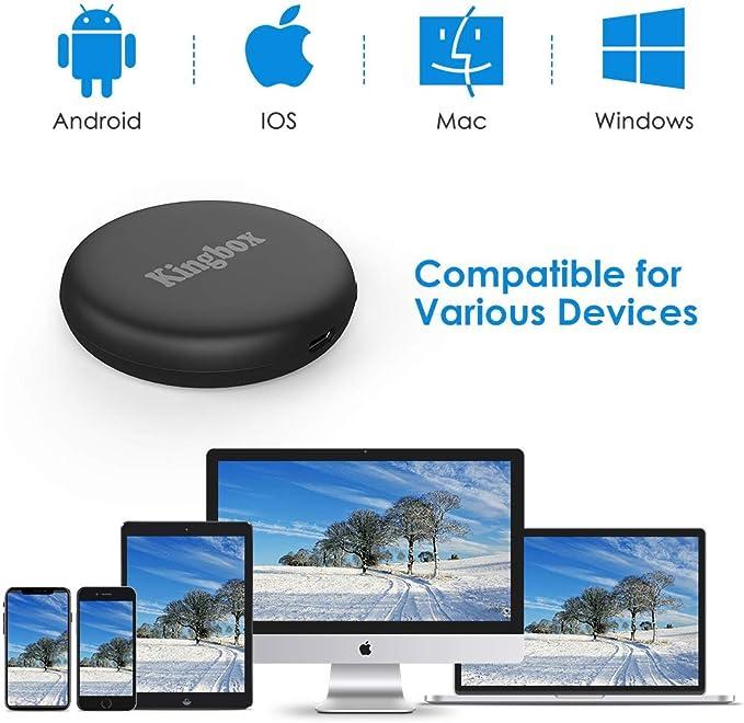 Kingbox Chromecast de Google, 5G/2.4G WiFi Display Dongle HDMI Inalambrico, 4K WiFi Dongle TV con Airplay/Miracast/DLNA para Android/iPhone/Mac/Windows: Amazon.es: Electrónica