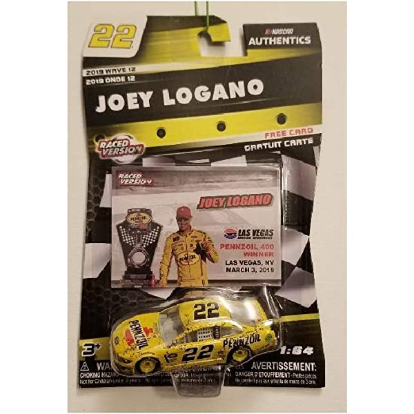 Amazon Com Nascar Authentics Joey Logano 1 64 Wave 12 Toys Games