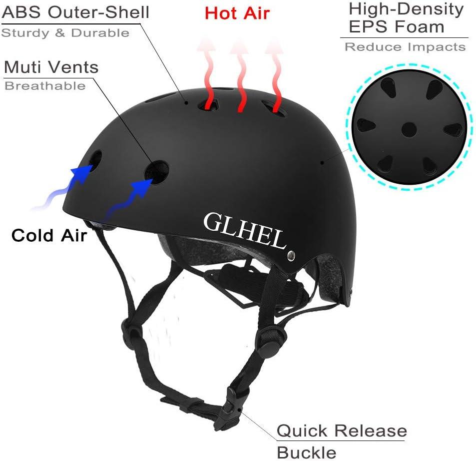 Farbe : A GYZ Helm-ABS High Material High Performance Schutzhelm Deutsch Style Leder Helm Outdoor-Bewegung M/änner und Frauen Durchschnittliche Code Universal 2 Farben