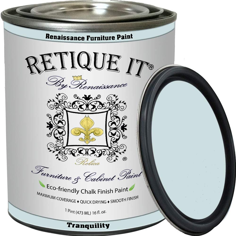 Retique It Chalk Furniture Paint by Renaissance DIY, 16 oz (Pint), 32 Tranquility