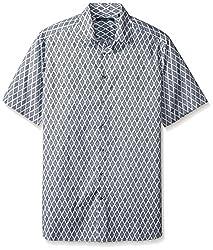 Perry Ellis Men's Big and Diamond Dot Print Shirt, Baby Blue, 2X-Large/Tall