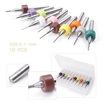 amazon com luckmart 10pcs 0 1mm 1 0mm print circuit board carbide rh amazon com