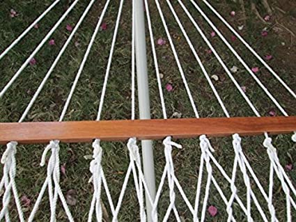 Twotree Hammocks 36 W X 11 Ft Cotton Rope Hammock With Hanging Hardware
