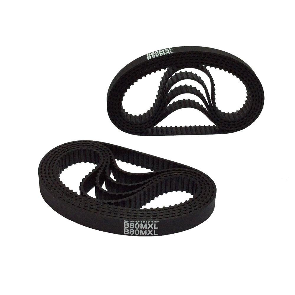 BEMONOC B80MXL Timing Belt L=203.2mm W=6mm 80 Teeth Synchronous Timing belt CNC/3D printer Closed belt Engraving Machine Parts