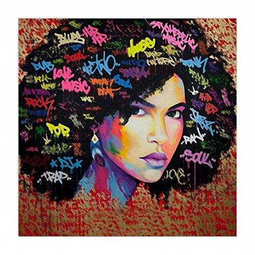 "Nude Women Canvas Printing Wall Decor Paintings Kit Wall Art African American Modern Abstract Painting Stretched For Living Room Wall Decoration 20""x20"""