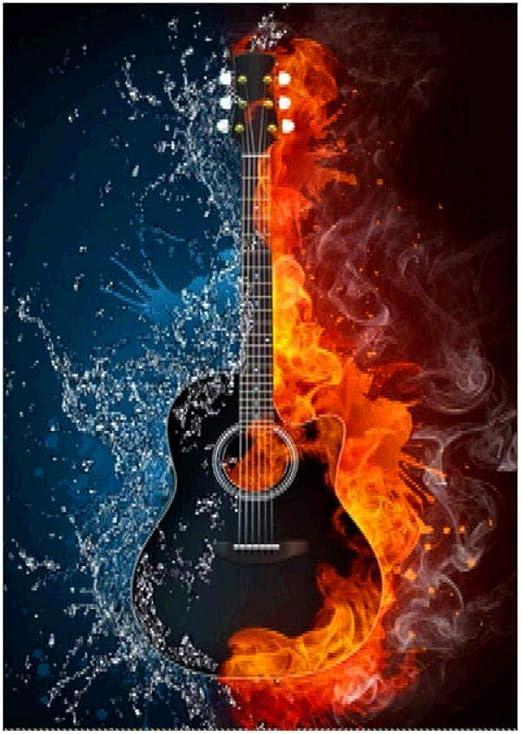 DPDecor La música es el alma guitarra diamante pintura bricolaje ...
