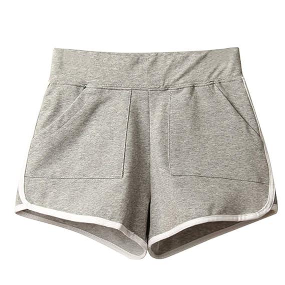 Luckycat Mujer Pantalones Cortos de Algodón Banda Elástica ...
