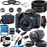 Canon EOS Rebel SL2 Kit with EF-S 18-55mm f/4-5.6 IS STM Lens Digital SLR Cameras (Black) + Canon EF 50mm f/1.8 STM Lens - Deal-Expo Accessories Bundle