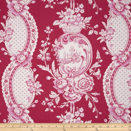 Tea Cakes Strawberry Toile Strawberry Fabric By The YD